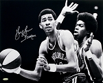 George Gervin Autographed Virginia Squires 16x20 Photo Inscribed Iceman