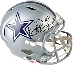 Ezekiel Elliott Autographed Dallas Cowboys Full Size Replica Speed Helmet