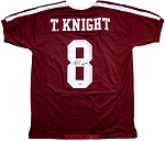 Trevor Knight Autographed Texas A&M Maroon Custom Jersey