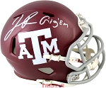 Josh Reynolds Autographed Texas A&M Aggies Mini Helmet