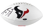 Tom Savage Autographed Houston Texans Logo Football