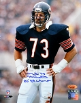 Mike Hartenstine Autographed Chicago Bears 8x10 Photo Inscribed 85 SB Champs