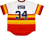 Nolan Ryan Autographed Houston Astros Rainbow Cooperstown Collection Jersey