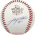 Justin Verlander Autographed 2017 World Series Baseball