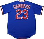 Ryne Sandberg Autographed Chicago Cubs Blue Replica Jersey Inscribed HOF 05