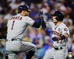 Carlos Correa Autographed 2017 World Series with Altuve 16x20 Photo