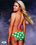 Natalie Gulbis Autographed Sports Illustrated Swimsuit 8x10 Photo