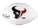 Keke Coutee Autographed Houston Texans White Signature Model Football