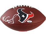 Keke Coutee Autographed Houston Texans Logo Football