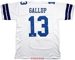 Michael Gallup Autographed Dallas Cowboys White Custom Jersey