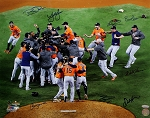 Houston Astros Autographed 2017 World Series Champions 16x20 Photo - 8 Signatures