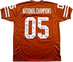 2005 Texas Longhorns National Champions Team Autographed Jersey - 20 Signatures