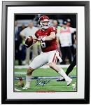 Baker Mayfield Autographed Oklahoma Sooners Throwing 16x20 Photo Framed