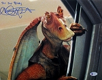 Ahmed Best Autographed 'Star Wars' 11x14 Photo Inscribed Jar Jar Binx
