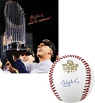 A.J. Hinch Autographed Astros 2017 World Series Baseball & Inscribed 16x20 Photo