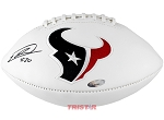 Justin Reid Autographed Houston Texans Logo Football