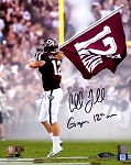 Cullen Gillaspia Autographed Texas A&M Aggies 8x10 Photo Inscribed 12th Man