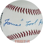 James 'Cool Papa' Bell Autographed Official League Baseball