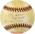 Yogi Berra Autographed American League Baseball Inscribed AL MVP 1951, 1954, 1955