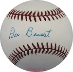Don Bessent Autographed Vintage Rawlings NL Baseball