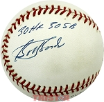 Bobby Bonds Autographed Official NL Baseball Inscribed 30 HR 30 SB