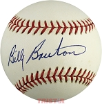 Billy Bruton Autographed Vintage Rawlings NL Baseball