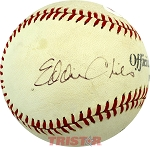 Eddie Chiles Autographed Official League Baseball