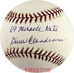 Donn Clendenon Autographed Official Major League Baseball Inscribed 69 Miracle Mets