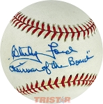 Whitey Ford Autographed Official AL Baseball Inscribed Chairman of the Board
