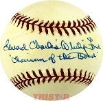 Edward Charles Whitey Ford Autographed Official AL Baseball Inscribed Chairman of the Board