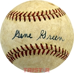 Gene Green Autographed Official National League Baseball