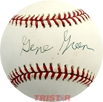 Gene Green Autographed Official League Baseball