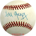 Hal Gregg Autographed Official National League Baseball