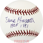 Ernie Harwell Autographed Official Major League Baseball Inscribed HOF 1981