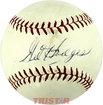Gil Hodges Autographed Vintage Spalding Official Pro League Baseball PSA 6.5