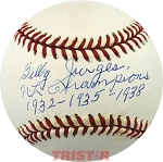 Bill Jurges Autographed Official NL Baseball Inscribed NL Champions 1932-35-1938