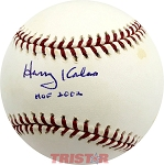 Harry Kalas Autographed Official Major League Baseball Inscribed HOF 2002