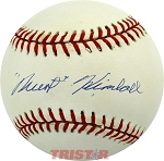 Newt Kimball Autographed Official National League Baseball