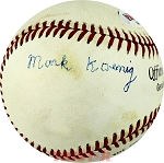 Mark Koenig Autographed Vintage Rawlings Official League Baseball