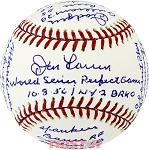 Don Larsen Autographed Official AL Baseball with World Series PG Inscriptions