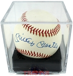 Mickey Mantle Autographed Official American League Baseball PSA/DNA Graded 8.5