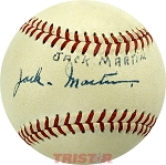 Jack Martin Autographed Official American League Baseball