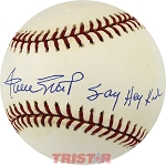 Willie Mays Autographed Official National League Baseball Inscribed Say Hey