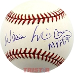 Willie McCovey Autographed National League Baseball Inscribed MVP 69