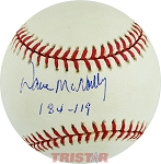 Dave McNally Autographed American League Baseball Inscribed 184-119