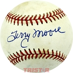 Terry Moore Autographed Official National League Baseball