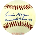 Connie Morgan Autographed Official AL Baseball Inscribed Indianapolis Clowns 1954