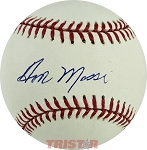 Don Mossi Autographed Official American League Baseball