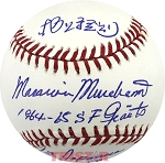 Masanori Murakami Autographed Baseball Inscribed 64-65 SF Giants, 1st Japanese MLB Player