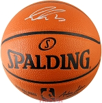 Luka Doncic Autographed Spalding NBA I/O Game Ball Series Basketball
